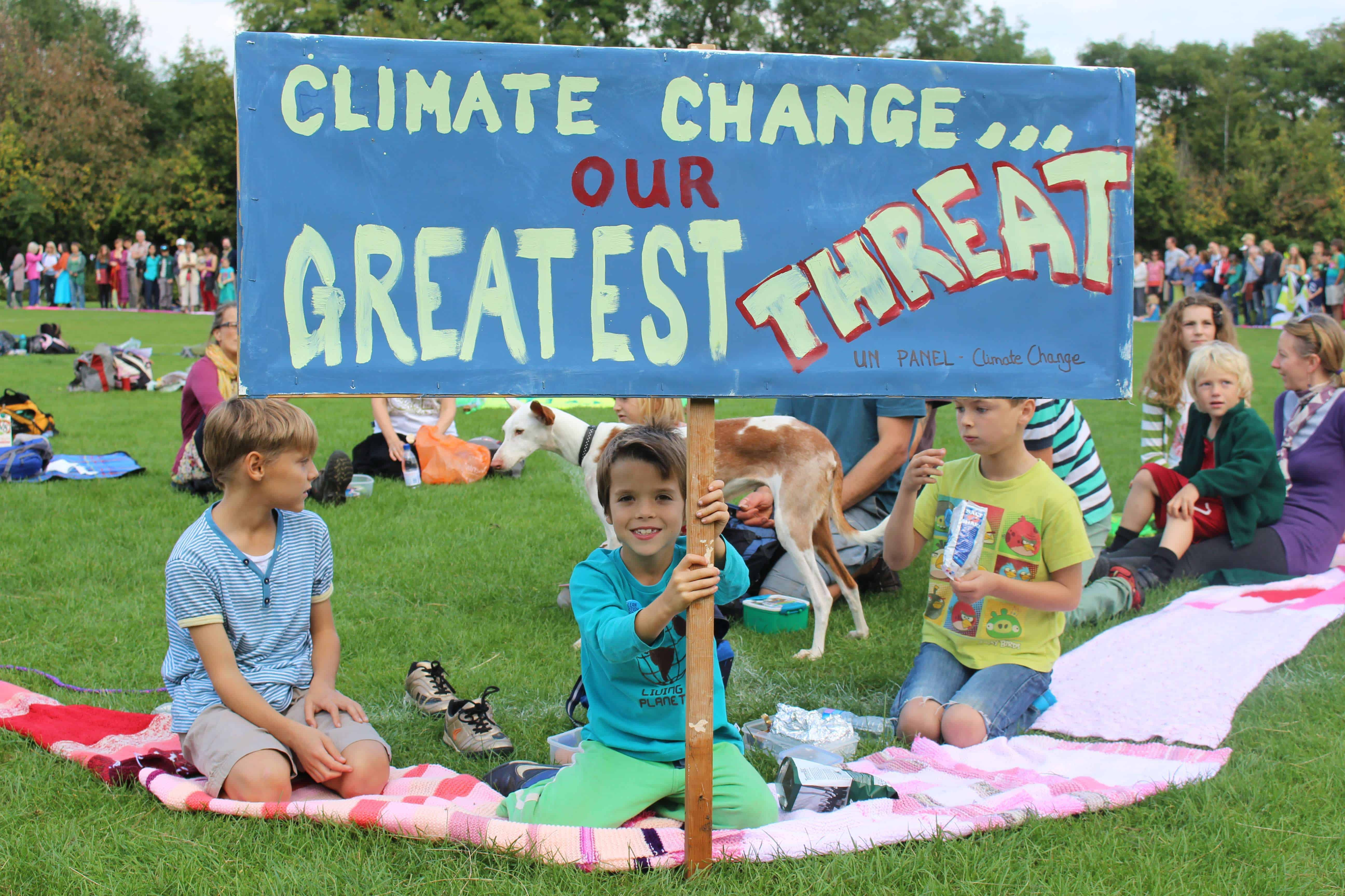 Children at climate change lobby